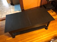 Black expandable coffee table with storage compartment West View, 15229