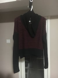 Red and black sweater