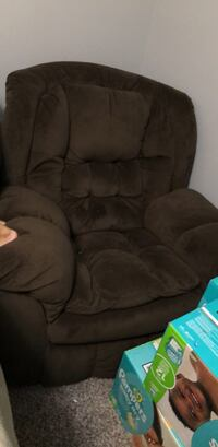 black suede recliner sofa chair Alexandria, 22315