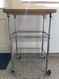Silver kitchen island/cart