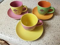 3 tea cups and plates Bethesda