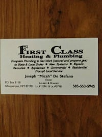 first class heating and plumbing Albuquerque, 87108