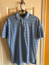 Five polo shirts size XL, $20 for all 5 mi