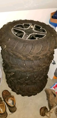 Set of wheels and tires, Polaris 850, 2015
