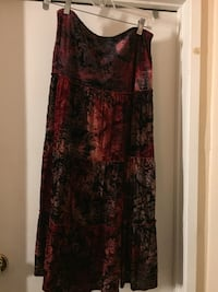 women's black and red floral sleeveless dress Bloomington, 92316