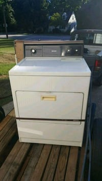 white and black front-load clothes dryer Winston-Salem, 27127