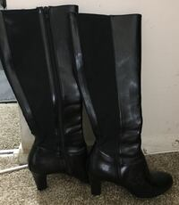 black Leather Boots Laurel, 20708