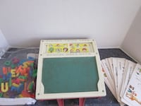 Vintage Fisher Price School Days Desk #176 Letters Stencils Numbers Toy Set Winnipeg