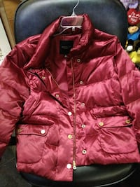 red bubble full zip jacket