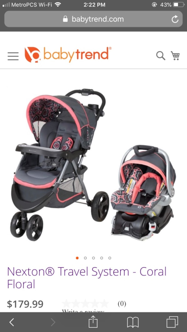 Baby trend jogger stroller and Car seat