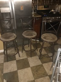 Bar stool decorative and functional chairs $20 each  Yonkers