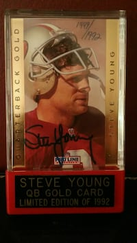 Steve Young signed 1992 card Newark, 19702