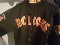 Bc lions men's sweater/jacket signed by Geroy Simo Langley Township