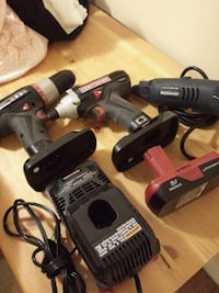 black and gray Porter Cable cordless power drill Guelph, N1H 1W1