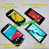 4 smartphones package deal Toronto, M6C 3V2
