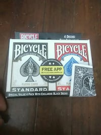 4 decks of bycicle playing cards Rochester, 14619