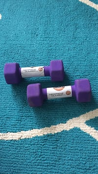 pair of purple Neoprene dumbbell Manassas, 20110
