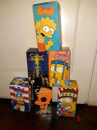Five box sets of the simpsons vhs