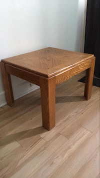 brown wooden side table with drawer Montréal, H2H
