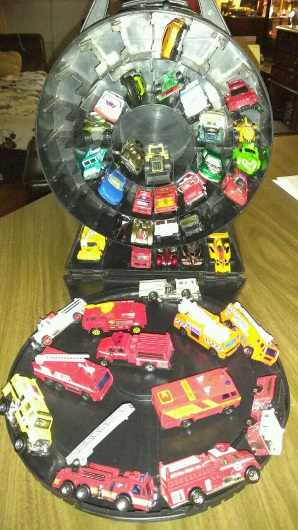 Hot Wheels and fire trucks about 72