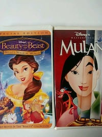 Mulan and Beauty and the Beast Belles magical world vhs tapes Baltimore
