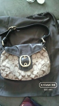 COACH leather & fabric small Shoulder Bag