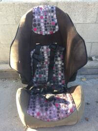 baby's black and pink floral car seat LOSANGELES