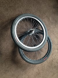 two gray bicycle rims with tire Sittingbourne, ME10 4EW