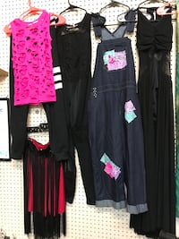 2 Piece black & Pink Hiphop OR patch overalls  Rocky Mount, 27804
