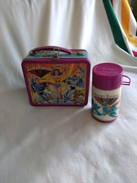 Vintage super friends lunch box and thermos