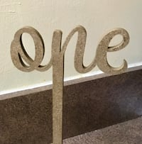 "6"" Gold Cursive Table Numbers (#1-15) Ashburn, 20148"