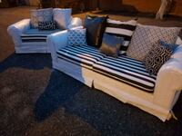 Custom painted WHITE and BLACK SOFA set Forest Hill, 21050