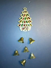 Solid Brass Suncatcher Christmas Tree W/ Bell Wind Chimes Troutdale, 97060