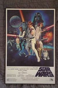 Star Wars Wood Mounted Movie Poster