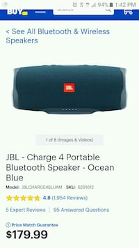 Jbl charge 4 bfand new