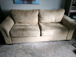 Suede 3-Seat Couch