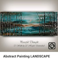 Abstract Painting Landscape Painting On Canvas Pickering, L1V 6W5