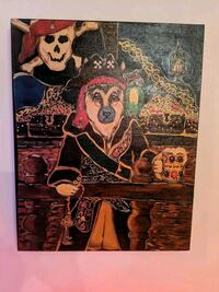 German Shepherd celebrating Halloween painting Lansdowne, 21227