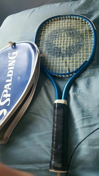 blue and black Spalding tennis racket Enid, 73701