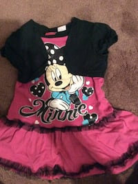 Disney Minnie Mouse dress pink and black - 4T and 5/6 Cotton in good condition $3 each. Aurora, 80012