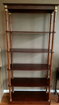 Cherry and brass shelves Alexandria, 22315
