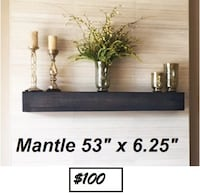 AJ - BRAND NEW - Rustic Fireplace Mantel Shelf Mississauga