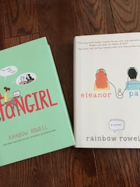 fangirl and Eleanor & Park. By Rainbow Rowell.Both books for $10 only!!  Brampton, L6X 0E5
