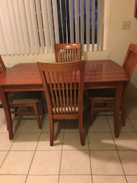 rectangular brown wooden table with six chairs dining set Paramount, 90723