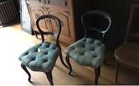 Two antique tufted chair, upholstery needs to change asking $250 for the pair negotiable Toronto, M2R 3N1