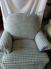 white and black fabric sofa chair Winchester, 22602