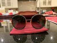 Gucci round frame sunglasses Regular with tax $593 (price is negotiable)  Markham, L3T 4E4