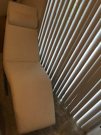 White lounge chaise Burnaby