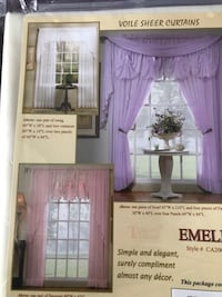 1 panel sheer curtain and 1 fan insert