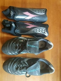 Diadora Soccer Cleats and Shin Guards